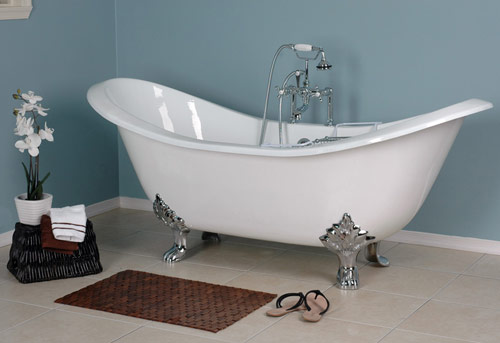 ades footed double slipper cambridge inch clawfoot bathtub