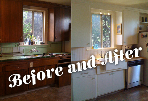 Kitchen Makeovers On A Budget Before And After Simple Kitchen Before And After  Revictorian Decorating Design